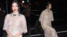 Olivia Munn transparan elbiseyle şov yaptı