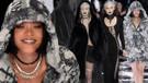Rihanna ve Gigi Hadid podyumda