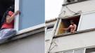 Erkek şiddetinden kaçmak için 4. kattan atlayacaktı!