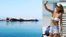 Karolina Kurkova tatil için Bodrum'u seçti!