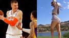 Ünlü güzel Jen Selter maça gelince Porzingis NBA tarihine geçti
