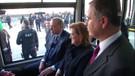 Cumhurbaşkanı Erdoğan elektrikli otobüsle yolculuk yaptı