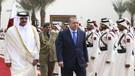 Erdoğan ve Katar Emiri Al-Sani birbirlerine takılıp şakalaştı