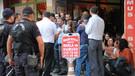 Hatay'da açlık grevine destek eylemine polis müdahalesi