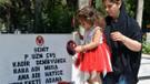 3 yaşındaki Lara'dan şehit babasına ziyaret