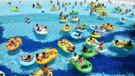 Kuşadası'nda plajlar ve su parklarında bayram bereketi