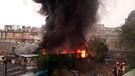 Kağıthane'de yıldırım düşen fabrikada yangın çıktı