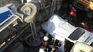 Kadıköy'de korkunç kaza: Beton mikseri aracın üstüne uçtu