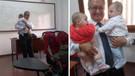 Profesörün kucağında ikiz bebeklerle çekilen fotoğrafı ülkede gündem oldu
