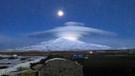Süphan Dağının üstünde oluşan bulut tabakası görenleri şaşırttı