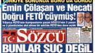 Sözcü: Emin Çölaşan ve Necati Doğru FETÖ'cüymüş!