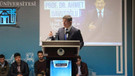Ahmet Davutoğlu konferans verdi hiçbir AKP'li katılmadı