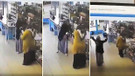 A101 Marketinde boks yapan teyzeler olay oldu