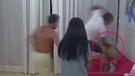 Canlı yayında kız arkadaşını tekme tokat dövdü