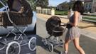 Kylie Jenner'in elbise ve bebek arabası uyumu