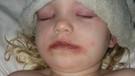 Oyuncak makyaj seti 3 yaşındaki çocuğu bakın ne hale getirdi?