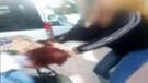 Liseli kızların saç başa kavgası kamerada