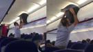 Uçak bagajına valiz yerleştirmeye çalışan adam sosyal medyayı salladı!