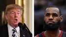 Trump'tan LeBron James'e aptal göndermesi