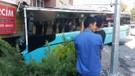 Bağcılar'da halk otobüsü 5 katlı binaya çarptı!