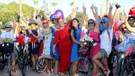 Antalyalı süslü kadınlardan festival tadında eylem