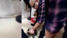 Cep telefonu kamerasına yakalandı! İş adamından kediye sopalı dayak