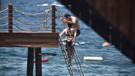 Gonca Vuslateri ile Serhat Şengül merdivene sığamadı