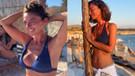 Ece Uslu plajları salladı! Bikinili fotoğraflarına beğeni yağdı