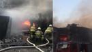 İzmir'de madeni yağ deposunda yangın: Patlamalar sürüyor