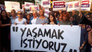 Ankaralı kadınlardan kadına şiddete karşı eylem: Yaşamak İstiyoruz