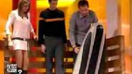 Canlı yayında şok kaza!!! Stüdyoda kayak denemesi nasıl bitti? VİDEO
