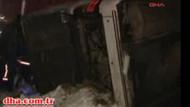 Ankara'da otobüs şarampole uçtu! 4 ölü!