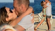 Yolanthe ve Sneijder dudak dudağa!