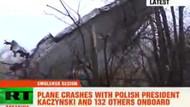 İşte düşen uçaktan ilk görüntüler! Kaczynski böyle öldü!