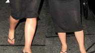 Kim Kardashian'ın ayakları da şişti!