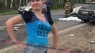Kazadan sonra cesetlerin yanında dans etti!