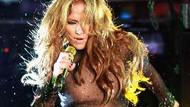 Kedi kadın Jennifer Lopez Times meydanını coşturdu!