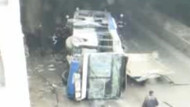 Ankara'da belediye otobüsü köprüden uçtu!