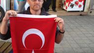Yakılan Türk bayrağını açan bakın kim çıktı?