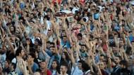 Türkiye'de kaç milyon kişi eylem yaptı?