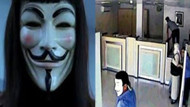 Guy Fawkes maskeli ama eylemci değil, soyguncu!