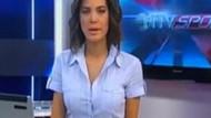 NTV spikerinin zor anları! Mikrofonu gömleğinin içine kaçınca...