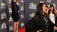 Kırmızı halıya hamile Kardashian damga vurdu!