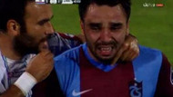 Tribünler Volkan Şen'i ağlattı! Sahayı terk etti..