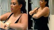 Kardashian canlı yayında göğüslerini kremleyince..