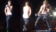 Justin Bieber'ın pantolonu düştü
