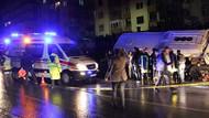 Polisleri taşıyan araç devrildi! 19 yaralı var!