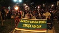 Tunceli'de meşaleli protesto!