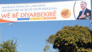 Erdoğan için Diyarbakır'da Kürtçe pankartlar!