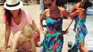 Esra Erol ve oğlu İdris Ali tatilde!